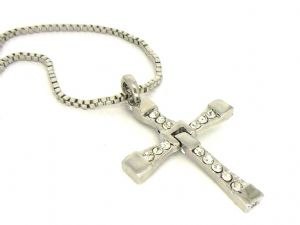 The FAST and The FURIOUS DOMINIC'S Silver CROSS PENDANT Necklace